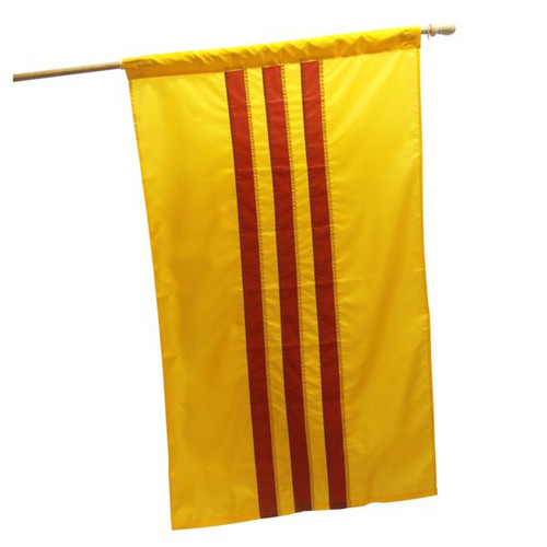 Vietnam South 3ft x 5ft Nylon Flag with Pole Hem