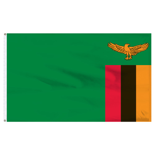 Zambia 5ft x 8ft Nylon Flag