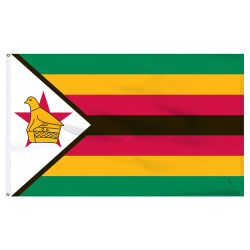 Zimbabwe 5ft x 8ft Nylon Flag