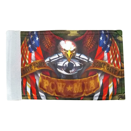 """Super Tough Some Gave All POW Motorcycle Flag - 6"""" x 9"""""""