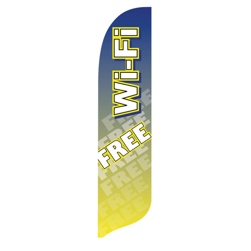 Outdoor Advertising Blade Flag - Free Wi-Fi