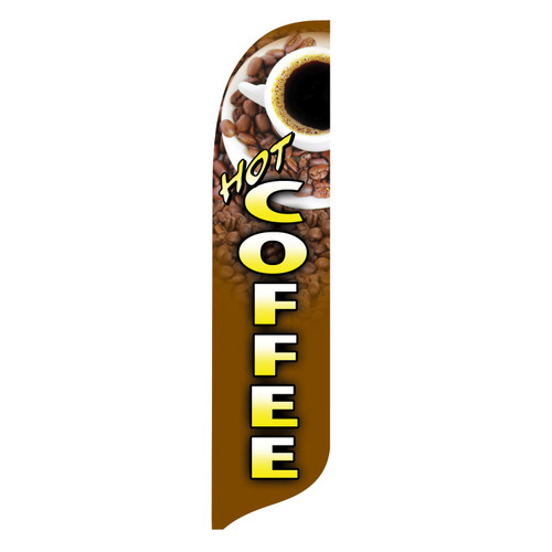 Outdoor Advertising Blade Flag - Hot Coffee