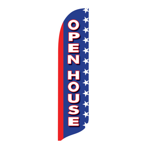 Outdoor Advertising Blade Flag - Open House