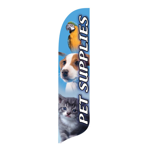 Outdoor Advertising Blade Flag - Pet Supplies