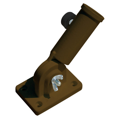 Adjustable Aluminum Flagpole Bracket - Bronze