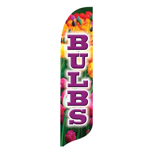 Outdoor Advertising Blade Flag - Bulbs