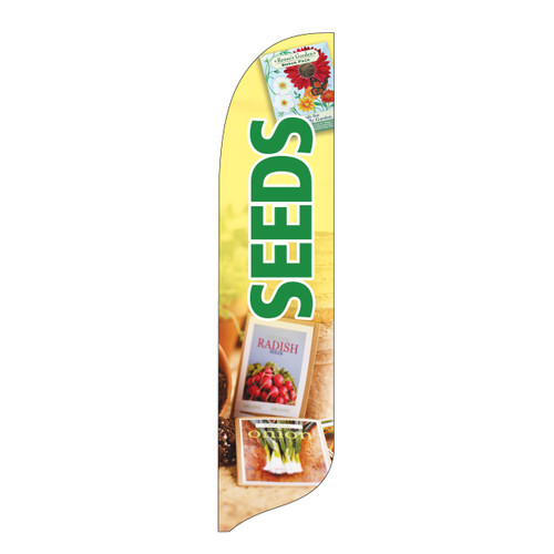 Outdoor Advertising Blade Flag - Seeds