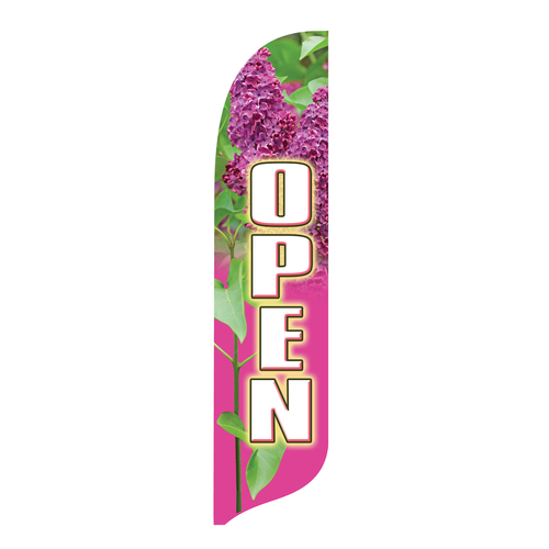Outdoor Advertising Blade Flag - Decorative - Open