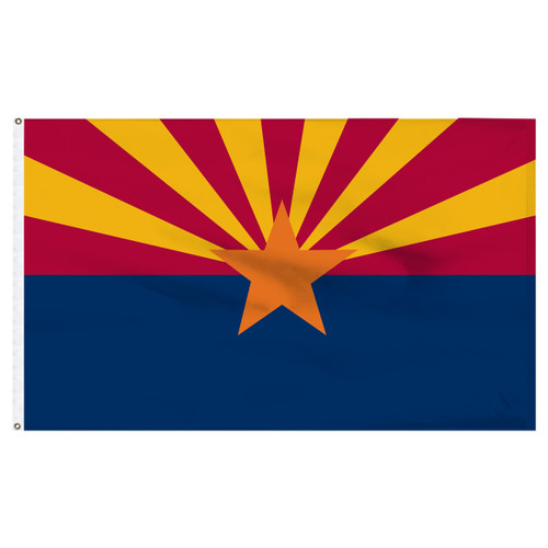 Arizona 4X6ft Nylon Flag with Indoor Pole Hem and Fringe