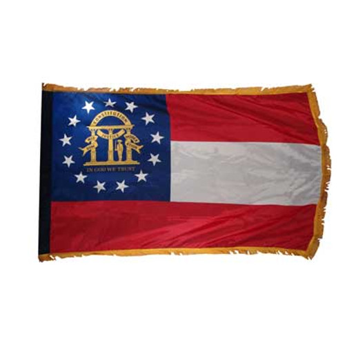 Georgia Flag 4ft x 6ft Nylon Indoor