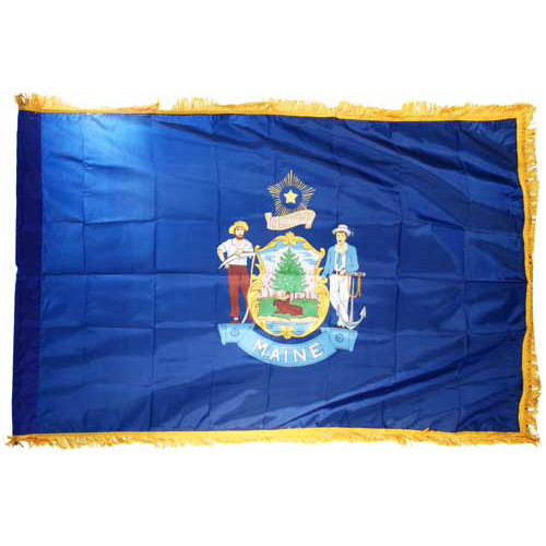 Maine Flag 3ft x 5ft Nylon Indoor