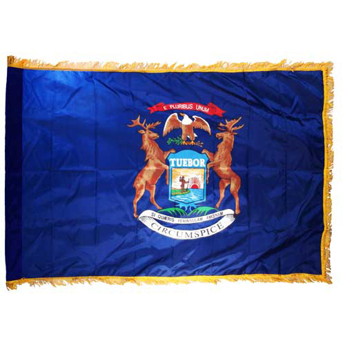 Michigan Flag 3ft x 5ft Nylon Indoor