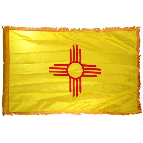 New Mexico Flag 4 x 6 Feet Nylon-Indoor: Add Pole Hem and Fringe