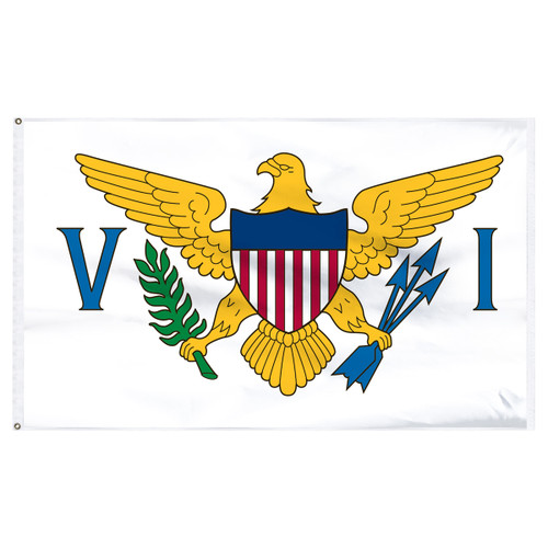 U.S. Virgin Islands flag 4x6 feet  nylon-Indoor: Add Pole Hem & Fringe