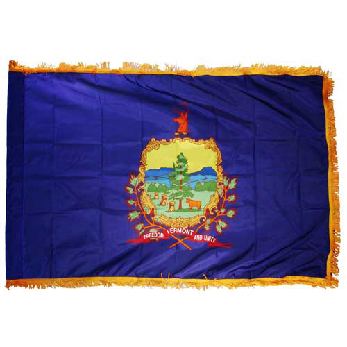 Vermont Flag 3ft x 5ft Nylon Indoor