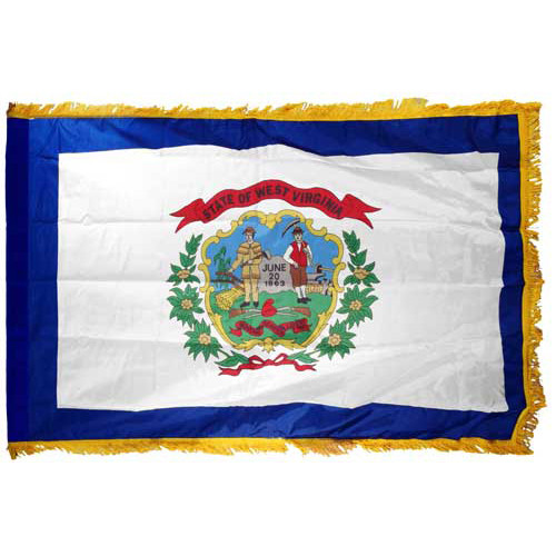 West Virginia Flag 3ft x 5ft Nylon Indoor
