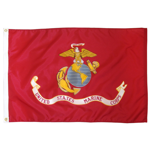 Indoor Marine Flag 3ft x 5ft Nylon w/ Fringe