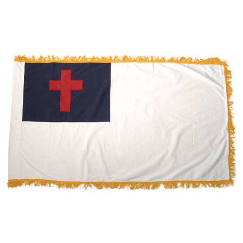 Christian Flag 3ft x 5ft Indoor with Fringe-Cotton
