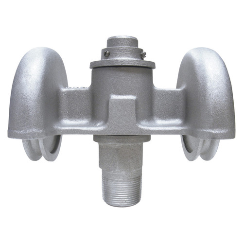 HDT-2 Series Revolving Double Pulley Truck with 5/8-Inch Spindle Thread