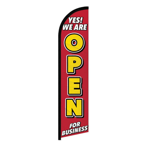 Yes We Are Open Blade Flag