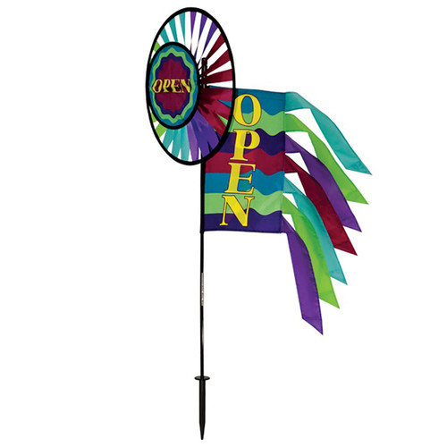 Open Spinner Wheel with Garden Flag & Tails - 46""