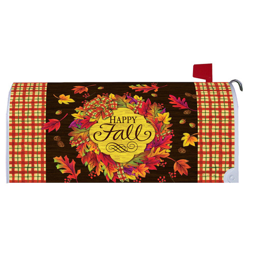 Fall Mailbox Cover - Fall Wreath