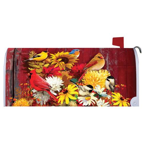 Fall Mailbox Cover - Autumn Songbirds
