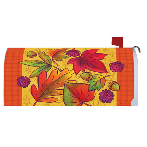 Fall Mailbox Cover - Leaves Falling