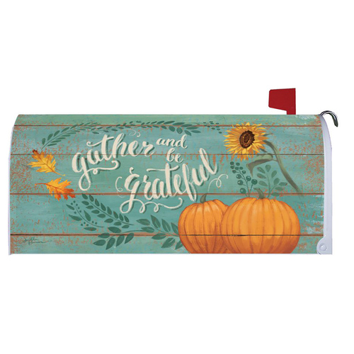 Thanksgiving Mailbox Cover - Gather & Be Grateful