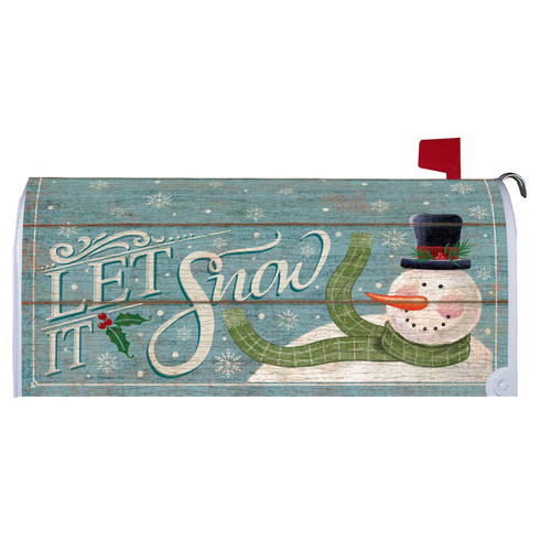Winter Mailbox Cover - Let It Snowman