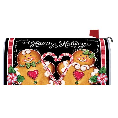 Christmas Mailbox Cover - Gingerbread Holiday