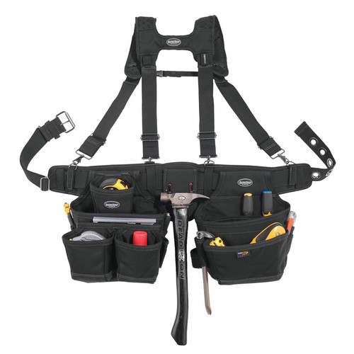 Bucket Boss Black Ballistic Suspension Adjustable Rig Tool Belt - 57100