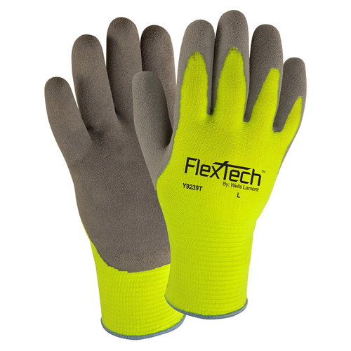 Wells Lamont Y9239T FlexTech Hi-Visibility Thermal-Lined Nitrile Palm Gloves
