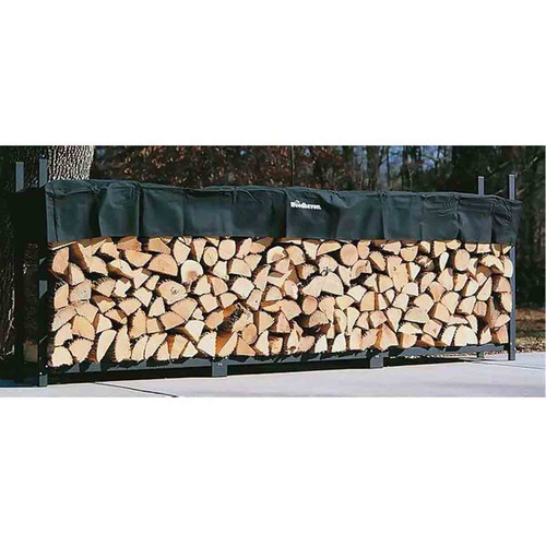 144'' Heavy-Duty Woodhaven Firewood Rack with Cover
