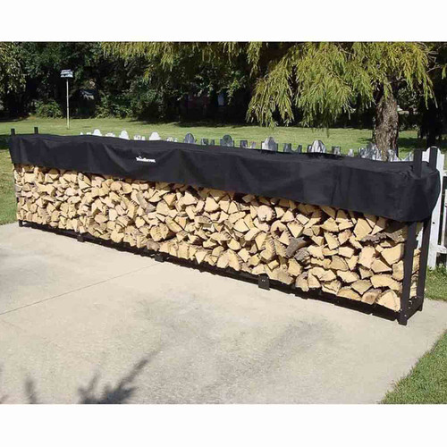 192'' Heavy-Duty Woodhaven Firewood Rack with Cover