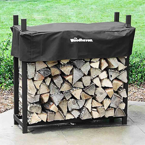 48'' Heavy-Duty Woodhaven Firewood Rack with Cover