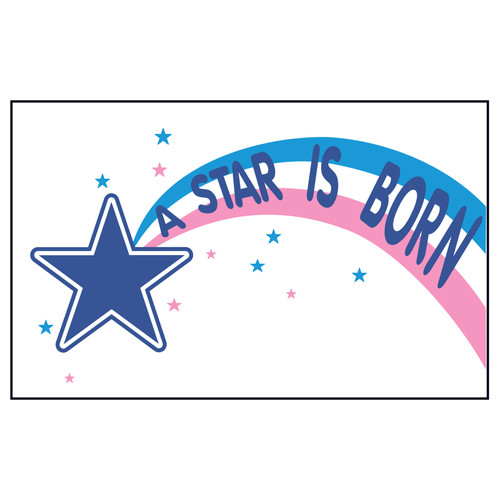 3ft x 5ft Decorative Flag - Star is Born
