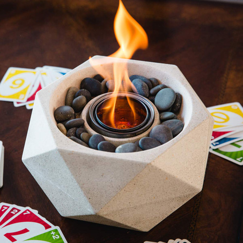 Geo Fire Bowl - White