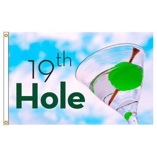 3ft x 5ft Decorative Flag - 19th Hole