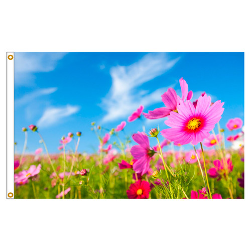 3ft x 5ft Decorative Flag - Pink Flowers