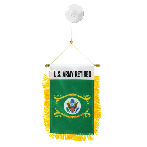 U.S. Army Retired Mini Window Banner