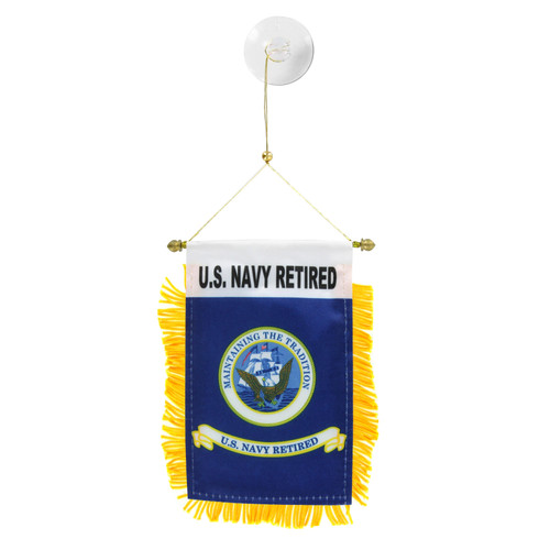 U.S. Navy Retired Mini Window Banner