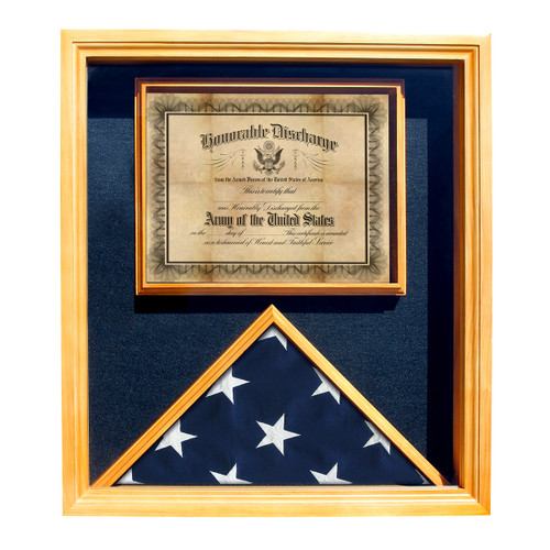 Kennedy Oak Flag and Certificate Display Case for 3' x 5' Flag