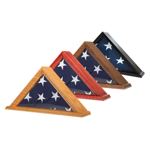 Solid Oak Flag Case for 5' x 9.5' Flag - US Made