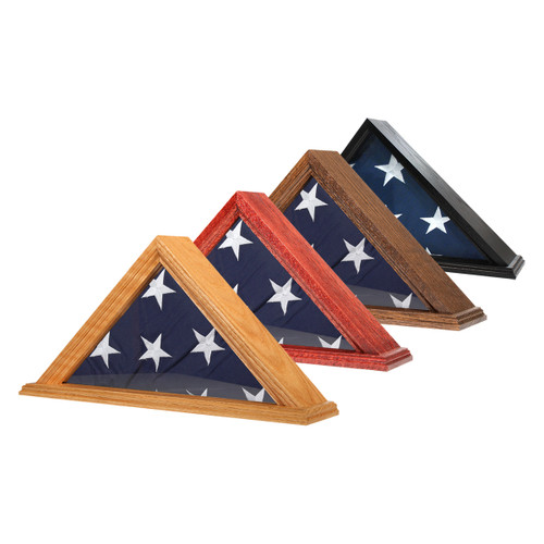 Solid Oak Flag Case for 3' x 5' Flag - US Made