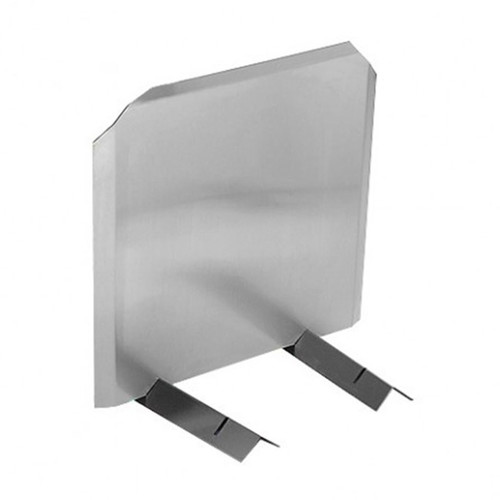 Stainless Radiant Fireback - 15'' H x 15'' W