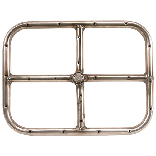12'' Stainless Steel Rectangle Fire Ring
