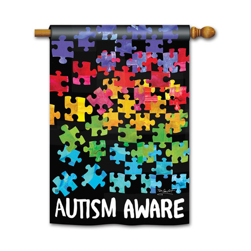 Autism Awareness Banner Flag