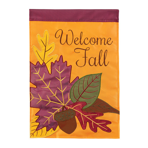 Autumn Applique Banner Flag - Fall Leaves