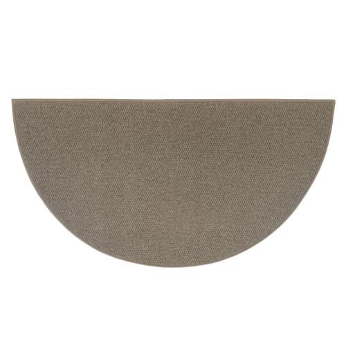 Ember 6' Half Round Brown Wool Fireplace Rug